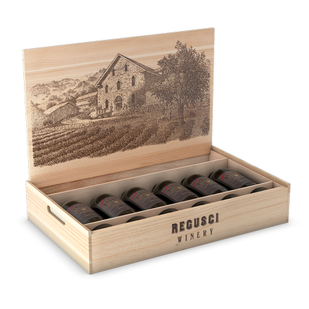 6-Bottle Wooden Gift Box